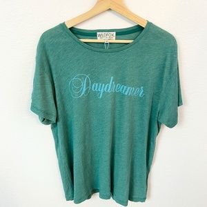 Wildfox Teal Daydreamer Short Sleeve Graphic Tee